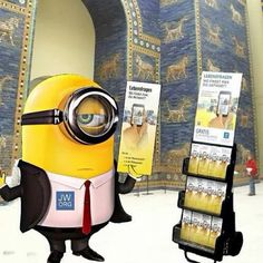 So cool!!! The minions join in the preaching work. See Dave only has one eye & even he can see the Jehovah is good for him!