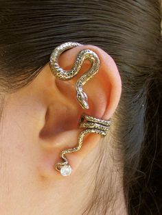 Python Snake Ear Wrap Bronze from Marty Magic. Saved to accesories. Shop more products from Marty Magic on Wanelo.