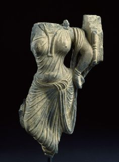 Fragment of a relief with female figure. Associated place Gandhara (place of creation) Taxila (possible place of creation) Date 2nd century AD (AD 101 - 200) Kushan Period (AD 50 - 600) Material and techniqueschist Dimensions with mount 25 x 12 x 6.2 cm max. (height x width x depth) 21.8 x 12 x 3.5 cm max. (height x width x depth)