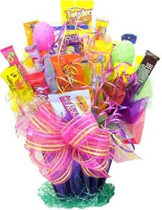 easter idea reminds me of my candy bouquet I got for my 40th bday from hubby!