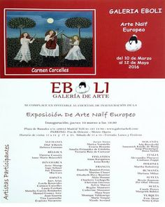 Mi mundo Naïf: EXPOSICION DE ARTE NAIF EUROPEO EN LA GALERIA EBOL...