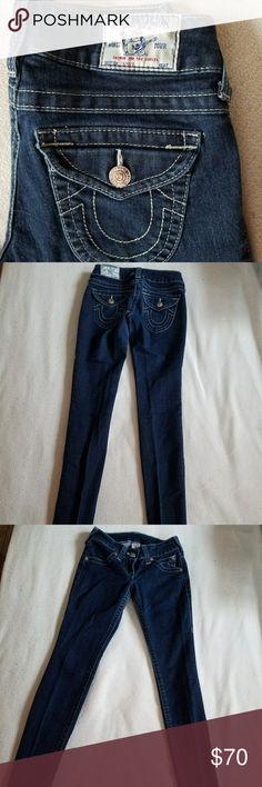 True Religion Jeans True Religion Jeans Skinny Dark Blue Size 25 True Religion Jeans Skinny