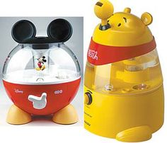 Mickey Mouse & Winnie The Pooh Humidifiers Mickey Mouse Nursery, Winnie The Pooh Nursery, Winnie The Pooh Friends, Minnie Mouse, Cozinha Do Mickey Mouse, Mickey Mouse Kitchen, Nursery Room, Boy Room, Kids Room