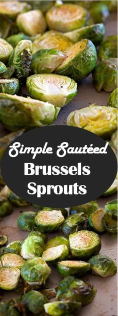 Simple Sauteed Brussels Sprouts - coconut oil, garlic, lime juice, and red pepper make this simple side dish extraordinary!