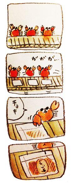 """monoyou: """"カニの仕事 """""""