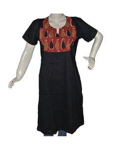 Black Kurti Neck Design for Women from India