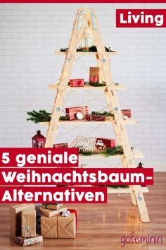 Nadelfrei UND nachhaltig: 5 Weihnachtsbaum-Alternativen zum Selbermachen November 2019, Diy Hacks, Xmas Tree, Christmas Time, Advent Calendar, Alternative, Holiday Decor, Blog, Inspiration