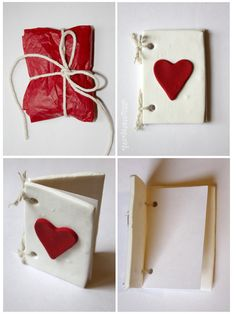 RESERVED Red and White Polymer Clay Valentines Day by claremanson, £6.21