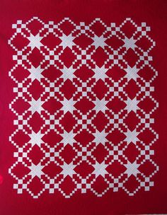 Red & White Quilt - I like the pattern - would be great in blue and white.