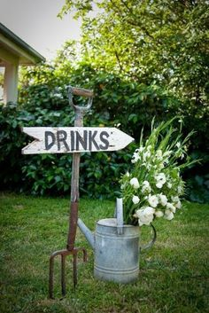 Fun sign for BBQ or garden party