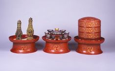 Royal ritual ceremonial receptacles, from the Naha City Museum of History. The items were used in the royal family's private chambers, mostly by females or kings during ritual ceremonies. Rare Words, City Museum, The Fragile, Naha, Coming Of Age, Treasure Chest, Okinawa, Old Things, Culture