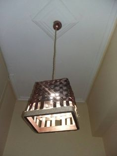 Bronze ceiling light made of bamboo by NaturaLiciousShop on Etsy
