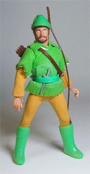 Mego - Robin Hood - I lost this toy in Nebraska... I believe it got enclosed in a built in cabinet my father made... It might still be there?
