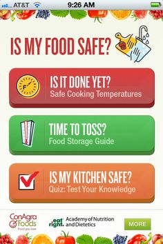 """Are my leftovers still safe to eat? Is My Food Safe? """"Is My Food Safe"""" app is your number- one companion in the kitchen for reducing your risk of food poisoning."""