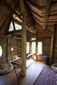 A treehouse - a lofty perch to hide away in.... #Treehouse #Tiny Space #Loft