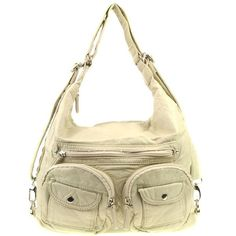 Ampere Creations Convertible Vegan Double Pocket Leather Backpack | Rad Hippie