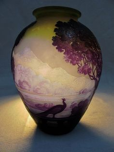 "A Gallé cameo glass ""Lake Como"" vase, circa 1900. ㊙️More Like This At FOSTERGINGER @ Pinterest"