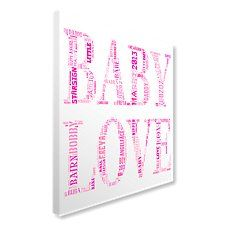 BABY LOVE Text Montage Canvas