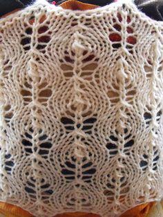 Pale grey lace cowl, Valerias_lion brand through ravelry