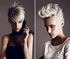 2 different styles Eye For Beauty, Hair Beauty, Blonde Color, Hair Color, Creative Haircuts, Short Haircut Styles, Hairstyle Short, Platinum Blonde Hair, Pitta