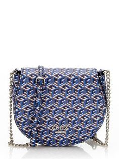 Geanta dama Guess cu lant crossbody Logos, Saddle Bags, Style, Accessories, Swag, Logo, Outfits