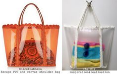 DIY transparent beach bag - inspired by Dolce