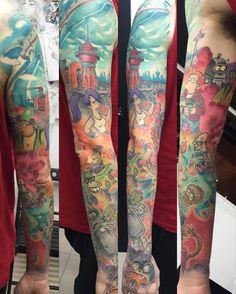 Awesome #Futurama #tattoo arm by María Cabañas @customizarte