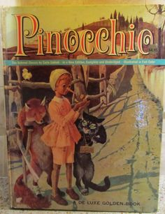 Pinocchio First Edition De Luxe Golden 1963 by WillowValleyVintage