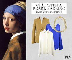 Das Gemälde, auch die niederländische Mona Lisa genannt, wurde um 1665 von Johannes Vermeer gemalt und hängt in der Mauritshuis Gallery in Hague, Holland.  SHOP THE LOOK: http://www.plvfashion.ch/de/promotion/203/girl-with-a-pearl-earring