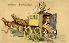 Old Easter Post Card — Easter greetings (650×407)