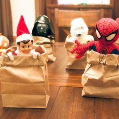 Elf on the Shelf idea - potato sack race
