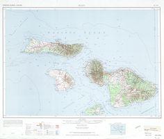 Maui Topographic 1961 USGS