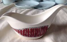 MIDWINTER SALAD WARE TERENCE CONRAN GRAVY BOAT in Pottery, Porcelain & Glass, Pottery, Midwinter, Tableware | eBay Gravy Boats, Terence Conran, Pottery Ideas, Casserole Dishes, Porcelain, Salad, Ceramics, Retro, Tableware