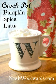 Crock pot pumpkin spice latte.  I am making this tomorrow morning.  I'm tired of being told that they're out at the coffee shop.