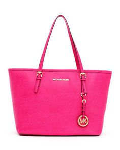 63711e40dc26 Michael Kors Jet Set Small Travel Tote -Zinnia NWT 30H1GTVT1L