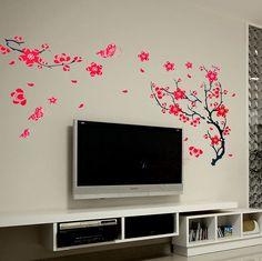 drawing on bedroom walls