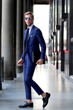 Men in blue style Follow MenStyle1 on: MenStyle1...   MenStyle1- Men's Style Blog