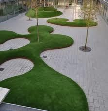 Love how the grass areas are raised, making it more 3D and interesting