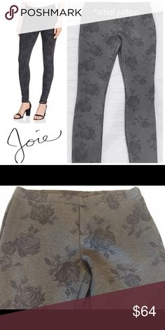 NWT Joie Keena Printed Leggings Grey NWT. Heather Grey Keena leggings are printed with a pixelated floral graphic.The simple wardrobe staple features an elastic waist and pull on style. Pair them with anything and wear them everywhere all year long.  73% Viscose 23%Nylon 4% Spandex. Machine Wash. Never worn. Joie Pants Leggings