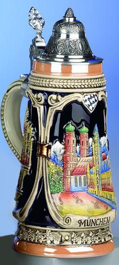 Jarra de cerveza alemana munich, jarra 0,5 litros