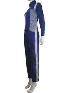 Unisex CBS TV Star Trek: Discovery Starfleet uniform full set halloween cosplay make-up costume christmas birthday valentine's gift silver