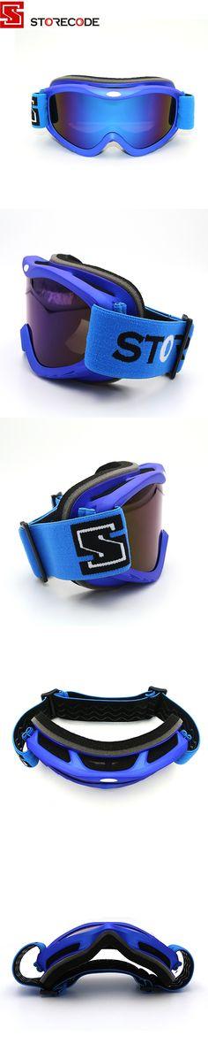 StoreCode Brand Ski Goggles 2 Double Lens Anti-Fog UV400 Snowboard Glasses Men Women Blue Frame Skiing Snow Goggles Set S502