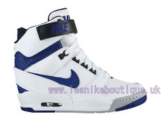 Nike Air Revolution Sky Hi GS 2015 Women´s High LifeStyle Shoes White/Blue