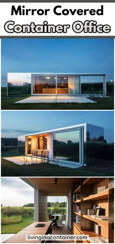 Architects create container offices in Belgium. One is in the center of Westouter and the other in a rural area surrounded by nature. Shipping Container Office, Shipping Container Conversions, Container Buildings, Container Architecture, Container Shop, Container House Design, Modern Contemporary Living Room, Contemporary Kitchens, Craft Room Design