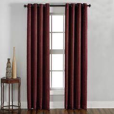 Curtainworks Lenox Room Darkening Curtain Panel - Wine (Red) (108)