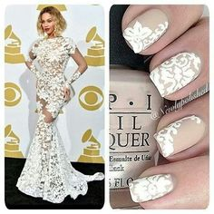 Nails inspired by beyonce