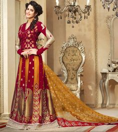 Designer Net Lehenga Saree - Beautifully designed lehenga saree in classic combination of golden yel Indian Sarees Online, Buy Sarees Online, Lehenga Sari, Net Saree, Best Designer Sarees, Indische Sarees, Brocade Blouses, Saree Collection, Fashion Wear