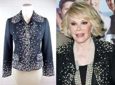 "JOAN RIVERS EBAY AUCTION --- Starts TODAY, Right Now - Find it @ frocknfrill.com -- Featuring this Amaaaaaazingly Beautiful Dolce & Gabbana crystal and pearl embellished tweed blazer from JOAN'S Personal Wardrobe, which she also wore in opening sequence of ""JOAN KNOWS BEST"" Season 2 -- CHECK IT OUT!!! More of Joan's Wardrobe Pieces Will Be Added Gradually Throughout The Week."