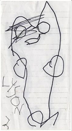 Cute not scary: This sketch by three-year-old Alyson DeVries looks more cuddly than terrifying Scary Drawings, Doodle Monster, Big Scary, Life Comics, Children Sketch, Comic Artist, American Artists, Art For Kids, Child Art