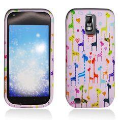 Samsung Galaxy S2 T989 T Mobile Hard Cover Case Rainbow Giraffe Pink Rubber Feel | eBay